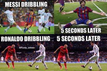Messi & Ronaldo dribbling...Ronaldo always goes for a show, and I love it!!