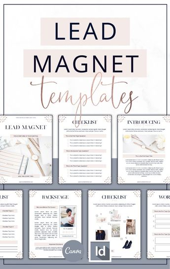 Rose Gold Lead Magnet Templates | Canva & InDesign | Lady Boss Studio