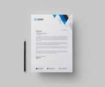 Paris Professional Corporate Letterhead Template 001765 - Template Catalog