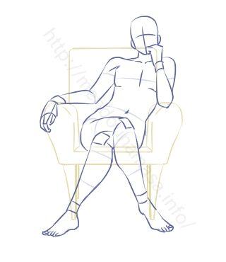 【イラストポーズ集】玉座に座るポーズ※7種※ | 面倒くさがりなマサのブログ