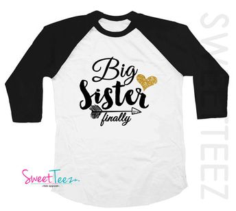 Big Sister Announcement Onesie Pregnancy Announcement One
