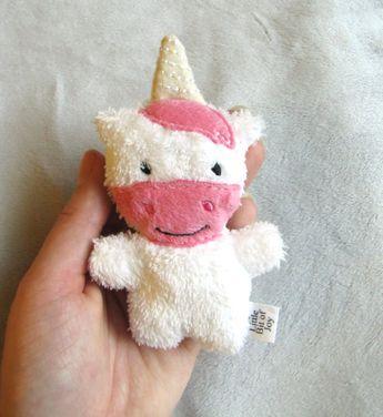 Mini Plush Unicorn Pink White Tiny Baby Animal Stuffed Mythical $7