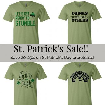 St. Patricks Day Prerelease! Limited Stock available. Starting at $20.