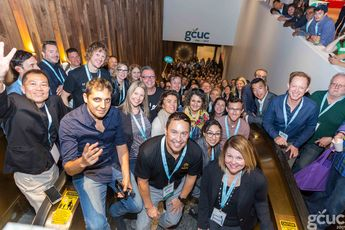 The epic group photo from GCUC 2017 in NYC #coworking #convene #conference
