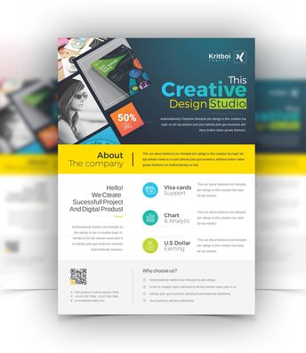Sleek Creative Business Flyer Design Template 001526 - Template Catalog