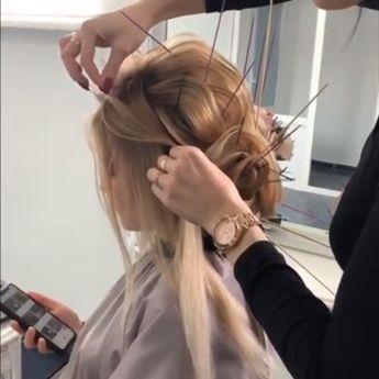 Such a beautiful bridal hair updo! #hair #hairupdo #bridal #beautiful #pretty