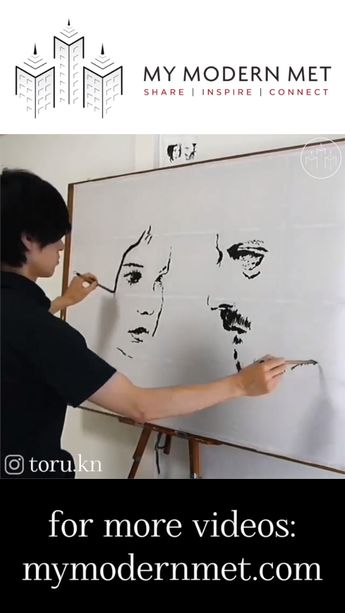 Watch the unbelievable drawing and painting skills of Japanese artist Toru.