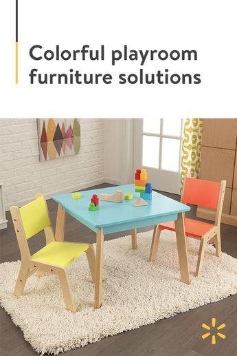 Kid Kraft Modern Table & 2 Chair Set, Multiple Colors