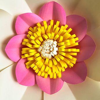 svg petal 4 paper flower template base flat center digit