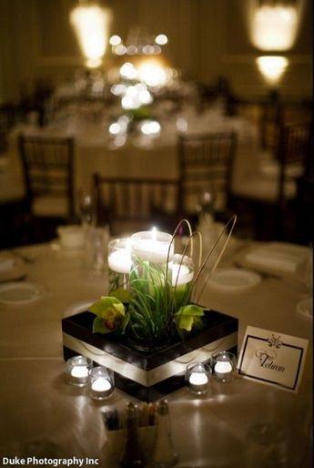 - Elegant candle Centerpiece