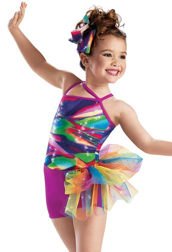 81e6e54dc Metallic Asymmetrical Leotard -Weissman Costumes Totally bling'd out