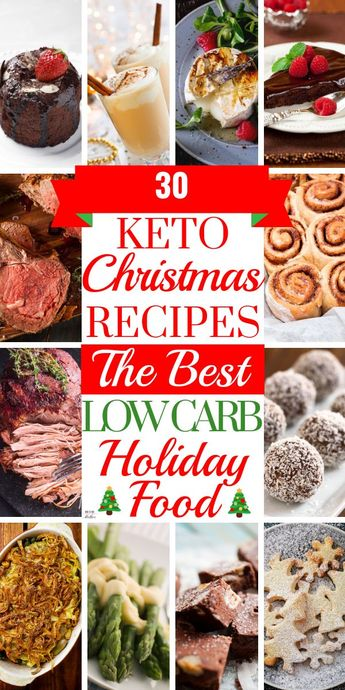 30 Keto Christmas Recipes The best low carb Christmas recipes for the feast of your dreams! Enjoy the holidays with the best Christmas food on the keto diet! From green beans to sugar cookies and eggnog, friends and families will love these keto Christmas recipes! Your Christmas menu is covered with these low carb side dishes, keto appetizers, mains, and desserts! Pin the best keto Christmas recipes here! #keto #ketodiet #lowcarb #lowcarbdiet #ketorecipes #ketoChristmas #ketodessert #nobake