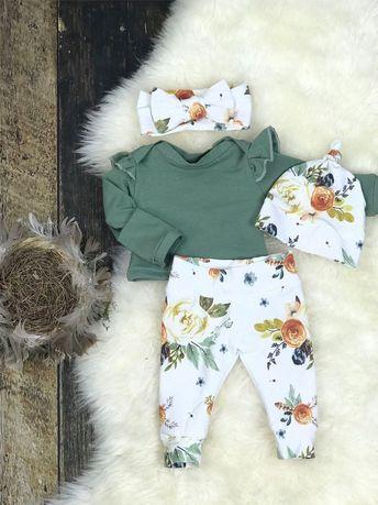 US Stock Nouveau-né Bébés Filles Tops Barboteuse Floral Pantalon Outfits Set Vêtements 0-24 M