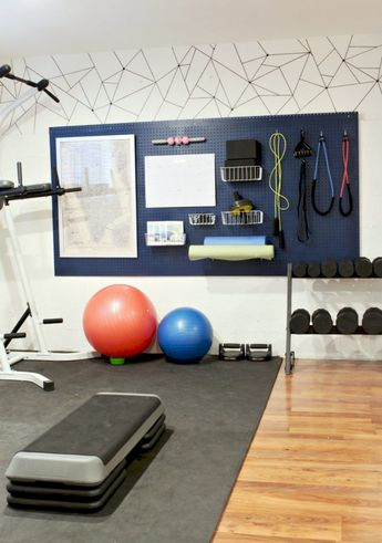 Easy DIY Project: Home Gym Organizer using a pegboard