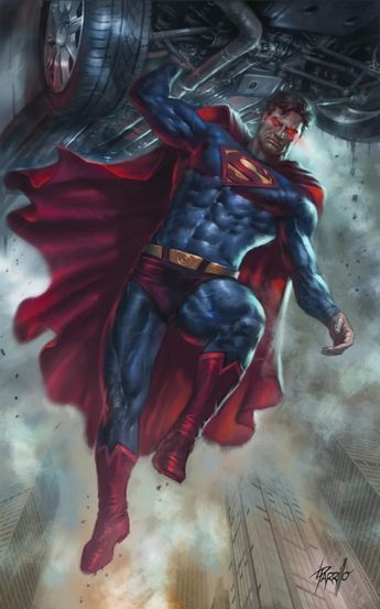 DC Comics. Comic Book Artwork • Superman by Lucio Parrillo. Follow us for more awesome comic art, or check out our online store www.7ate9comics.com