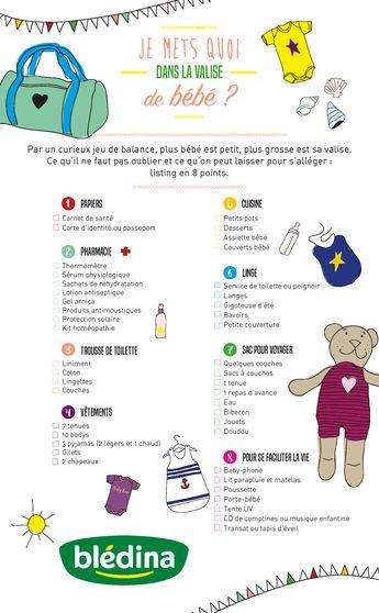 Que mettre dans la valise de bébé pour les vacances? #valise #bébé #checklist #conseils de voyage #voyager avec bébé