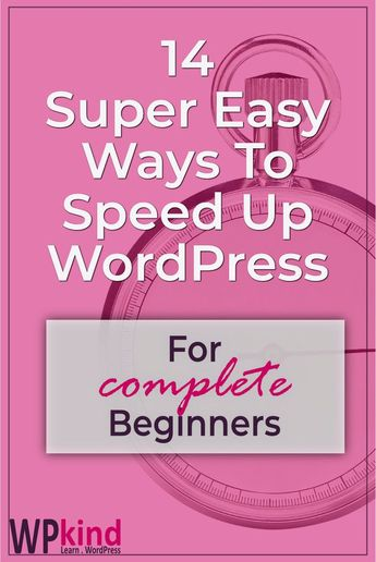 Speed up WordPress with these 14 super easy to follow tips. WordPress speed is extremely important for better Google ranking and better reader engagement. This tutorial is suitable for WordPress beginners because most of the tips involve installing a WordPress plugin which anyone can do! #wordpressspeed #wordpresbeginners #wordpresstips #wordpressplugins #wordpresstutorials #bloggingtips #blogging