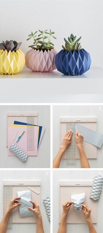 Origami Planter Covers