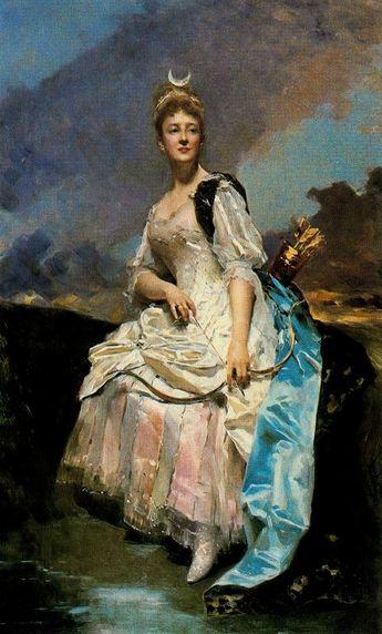 Raimundo De Madrazo Y Garreta (Spanish 1841–1920) [Salon, Portraiture] Marquise d'Hervey Saint-Denys, 1885. Oil on canvas, 129 × 85 cm. Musée d'Orsay, Paris.