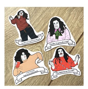 Stickers: Friends Tv Show Stickers! Fat Monica. Small Christmas Gift. Affordable Xmas Gifts. Stocking Stuffer, Stocking Filler. Secret Santa