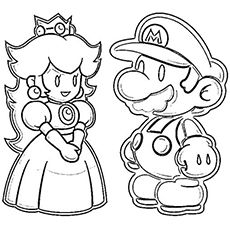 Bowser And Princess Peach Mario Coloring Pages Bowser Col