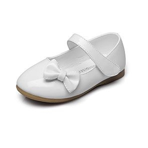 b444738b0190 Girls  Shoes Leatherette Spring   Fall Comfort   Flower Girl Shoes Flats  Bowknot   Magic