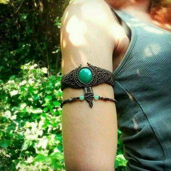 Macrame arm bracelet ethnic armband