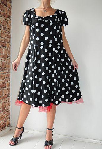 7e4b48b93c9255 Dress1 90 sukienka czarna w groszki pin up r. 50 - Vinted
