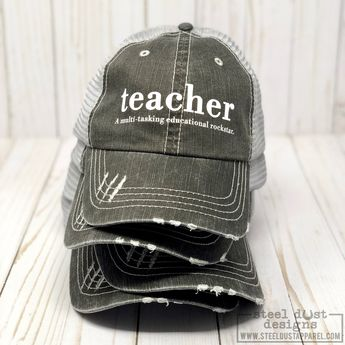 3c06ee850d919 Teacher Hat - Trucker Hat - Snapback Hat -Teacher Definition -Teacher  Appreciation