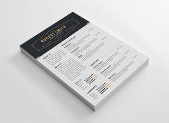 Sydney Professional Resume Design Template - Graphic Templates