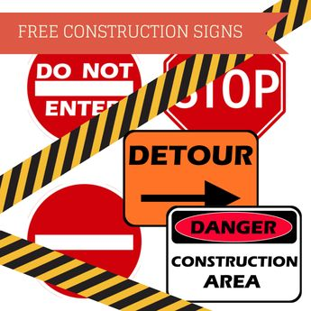 FREE CONSTRUCTION SIGNS                                                                                                                                                                                 More