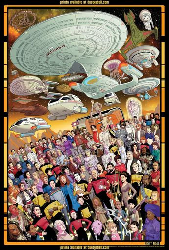 SOLD OUT Star Trek The Next Generation 30th Anniversary Official 3 print set limited edition of 1800 pieces