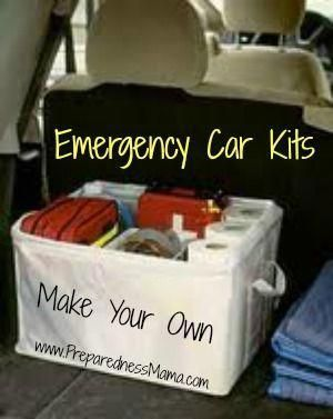 Create an emergency car kit and be prepared for everyday trips or worst case scenarios. www.prepparednessmama.com #survivalkit