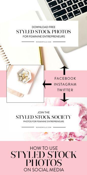 10 Ways To Use Styled Stock Photos - Elle Drouin | wonderfelle MEDIA