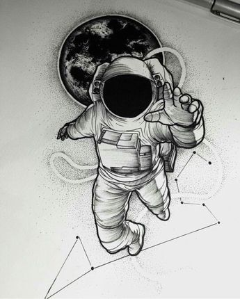 #draw #drawing #sketch #art #astronaut #space
