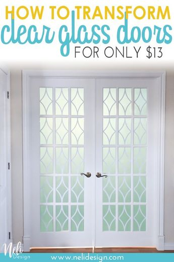 How to add privacy to French doors for only $13