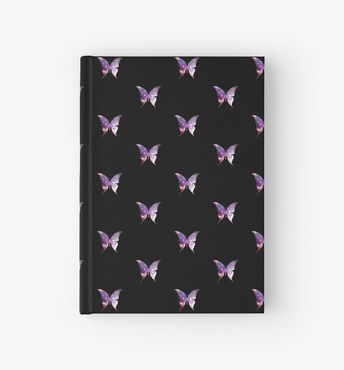'The Sacred Nebula Butterfly, Sacred Geometry Space Art' Hardcover Journal by ChaosEmporium