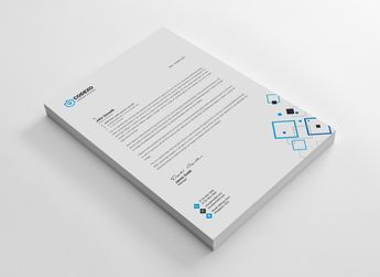 Hera Modern Corporate Letterhead Template - Graphic Templates