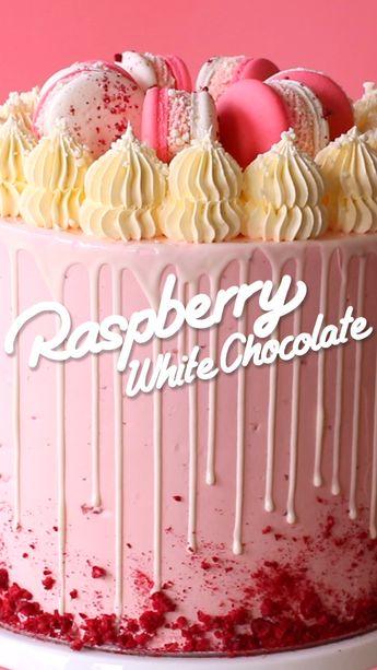 Raspberry White Chocolate Cake