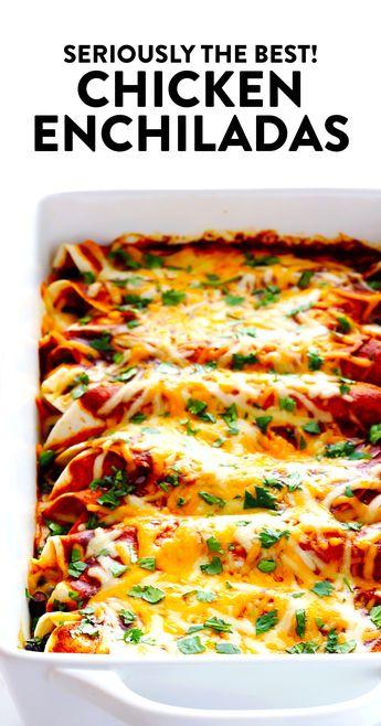Best Chicken Enchiladas EVER! | Gimme Some Oven