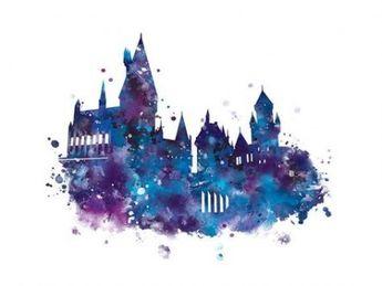 Tattoo Watercolor Harry Potter Hogwarts 44 Ideas