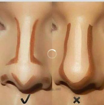 Contorno no nariz