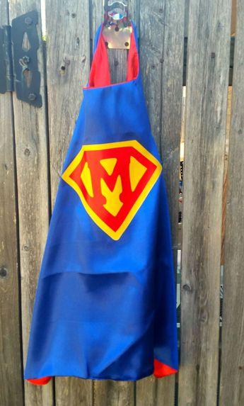 Custom Superhero Cape, boys super cape, kids cape, superhero costume, superhero birthday outfit, personalized superhero cape, toddler cape