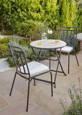 Lot table de jardin en acacia Denia pliante + 2 chaises de