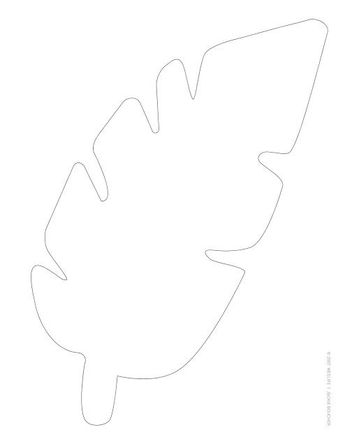 Silhouette White Paper Leaves On Green Background