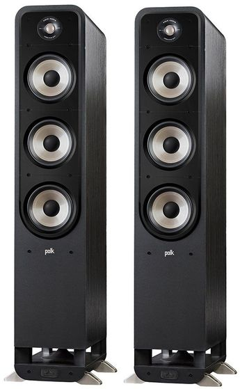 The Polk S60e Floorstanding Loudspeakers improve upon Polk's previous Signature series with Dynamic Balance Technology, high resolution tweeters and acoustically inert enclosures, offering an elevated sound for music and movies, with a sound-matched range for seamless speaker to speaker blending in the Polk Signature E Series.