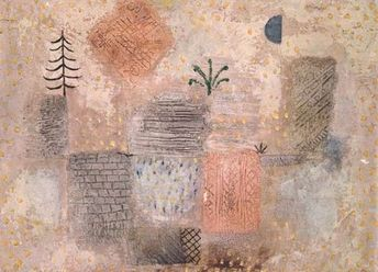 Titolo dell'immagine : Paul Klee - Park with the cool half-moon.