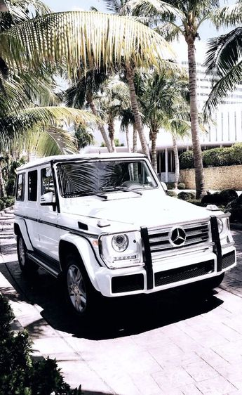 My dream car : a beautiful white Mercedes Benz G Wagon (w/ red interior)! #wallpaper #iphonewallpaper #cars - Cars and motor