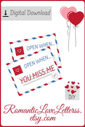 picture relating to Open When Letters Printable named Listing of open up Though letters for boyfriend subjects envelopes