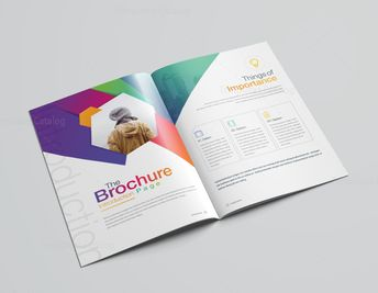 16 Pages Clean Professional Corporate Brochure Template 001200 - Template Catalog